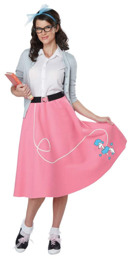 Economy Adult 50s Pink Poodle Skirt