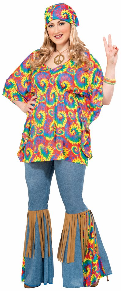 women's plus size hippie chick costume - candy apple costumes