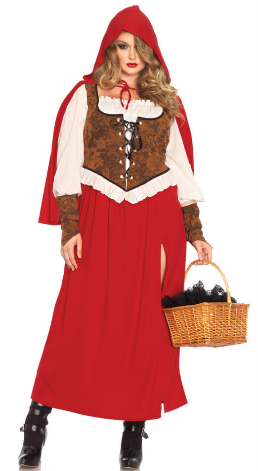 Women s Plus Size Woodland Red Riding Hood Costume - Plus Size Deluxe  Costumes 23bdeb4236