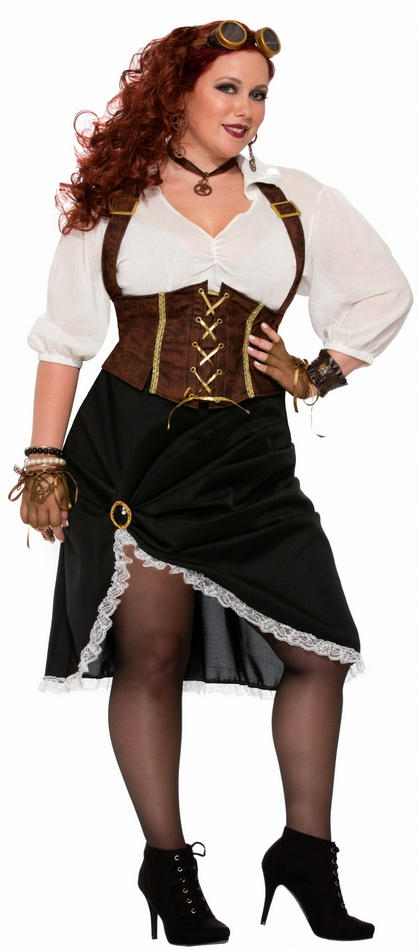 Women\'s Plus Steampunk Lady Costume