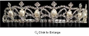 "1-1/4""high Silver Tiara - IdeaRibbon.com"