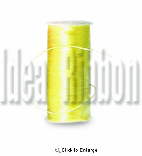 "1/16"" 200 yard  Baby Maize Round 1/16"" Satin Cord 200yds spool - IdeaRibbon.com"