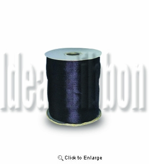"1/16"" 200 yard  Black Round Satin 1/16"" Cord 200yds spool - IdeaRibbon.com"