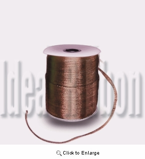 "1/16"" 200 yard  Seal Brown Round Satin 1/16"" Cord 200yds spool - IdeaRibbon.com"