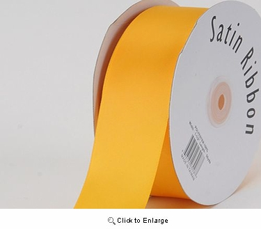 "1/4"" x 100 Yard Gold Signgle Face Polyester Gift Satin Ribbon"