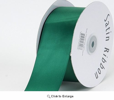 "1/4"" x 100 Yard Hunter Green Signgle Face Polyester Gift Satin Ribbon"