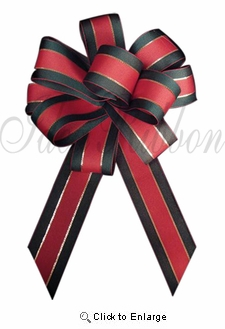 "1.5"" x  25yds. Red/Green Traditional X-mas Ribbon"