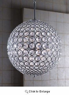 "10"" Crystal Ball Chandelier"