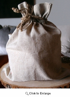 "10"" x 12"" Linen Bag with Jute Cord"