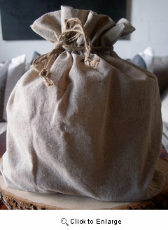 """12"""" x 14"""" Linen Bag with Jute Cord"""
