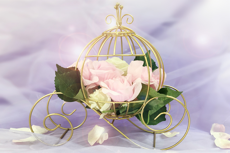 """Favor Baby Wire Carriage PINK SET OF 12 Size 4/"""" X 3/"""""""