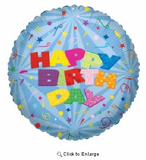 "18"" BIG LETTER HAPPY BIRTHDAY MYLAR BALLOON"