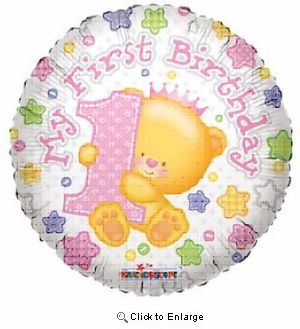"18"" FIRST HAPPY BIRTHDAY MYLAR BALLOON"