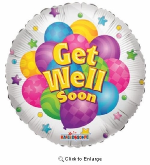 "18"" GET WELL SOON MYLAR BALLOON"