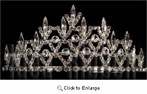 "2-1/4"" high Silver Tiara - IdeaRibbon.com"