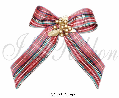 "2.5"" x  25yds. Acetate Plaid Christmas Gift Ribbon"