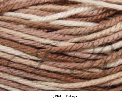 2 Ounces 100% Acrylic Variegated Brown Yarn