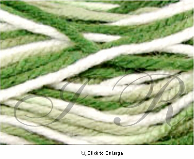 2 Ounces 100% Acrylic Variegated Green Yarn