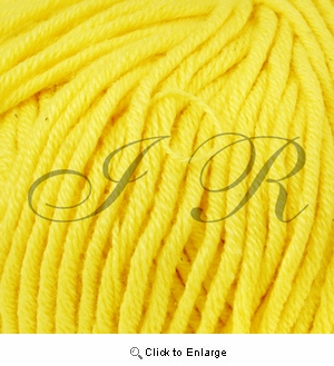 2 Ounces 100% Acrylic Yellow Yarn
