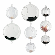Hanging Glass Globe Terrarium Candle Holders Wholesale