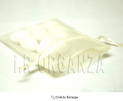 """36 - Ivory 4 1/2"""" x 5 1/2"""" Organza Sheer Gift Favor Bags -Pack of 36"""