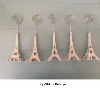 "4""Bronze Eiffel Tower Wedding Party Event Name Table Card Holder Stand 4pcs"