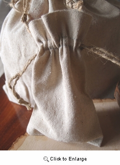 """4"""" x 6"""" Linen Bag with Jute Cord  
