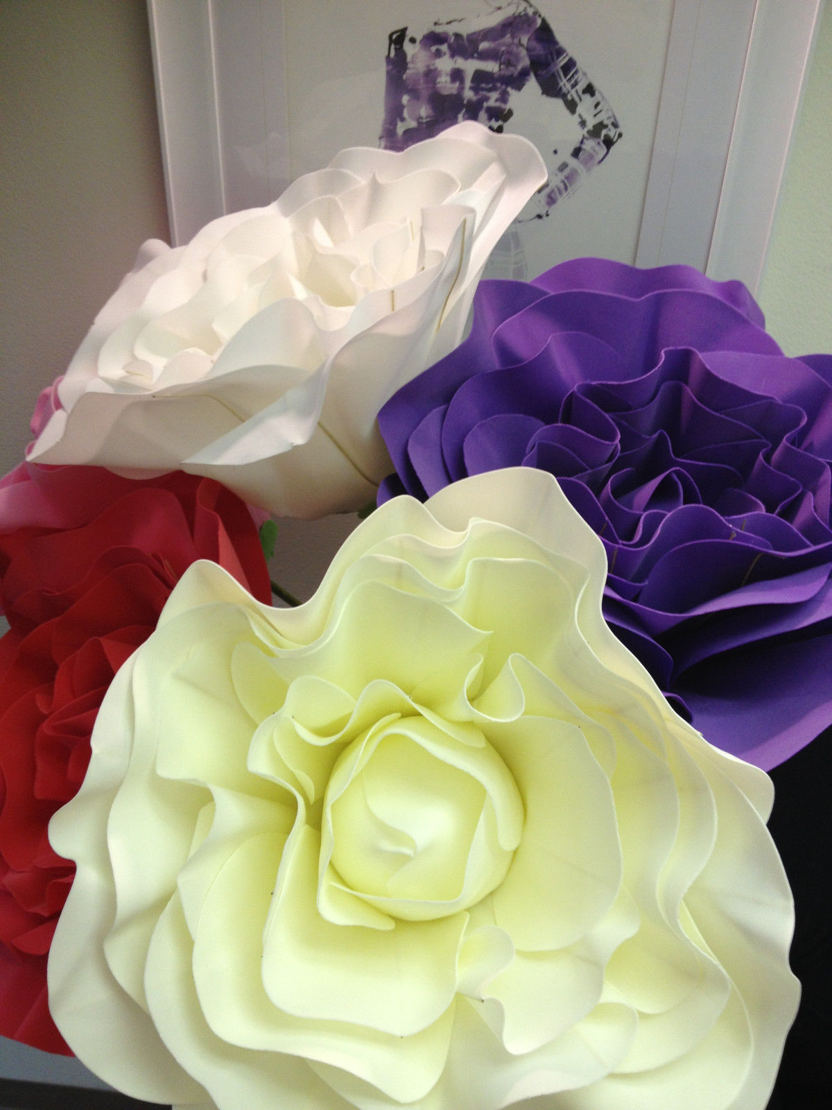 Enchanting Paper Flower Wall Decorations Motif - All About Wallart ...