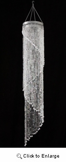 "48"" Hanging Crystal like Beaded Chandelier"