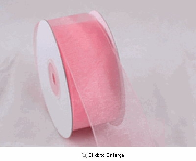 "5/8"" 25 Yard Pink Organza Sheer Ribbon - Pack of 4"