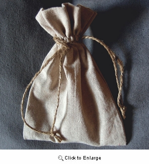 """5"""" x 7"""" Linen Bag with Jute Cord"""