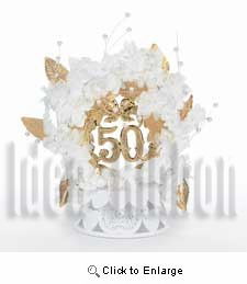 50 Years of Happiness Topper - IdeaRibbon.com