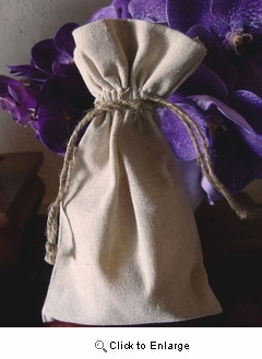 "6"" x 10"" Linen Bag with Jute Cord"