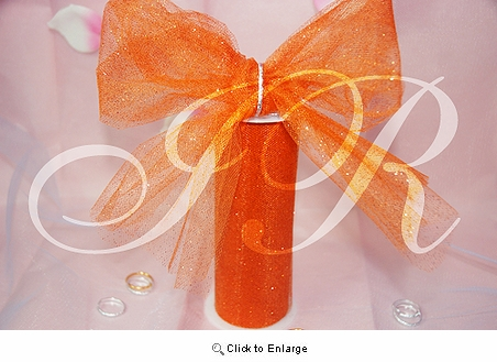 "6"" x 10 Yard Orange fabric wedding Glitter Tulle spool"