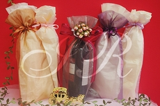 6 X15 Organza Favor Wine Bottle Bags 995 Each