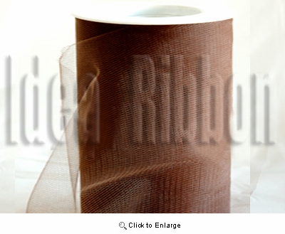 "6""x300 FT Espresso Brown Soft wedding tulle"