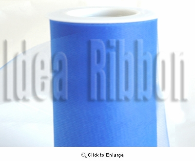 "6""x300 FT Lapis Royal Blue Soft wedding tulle"