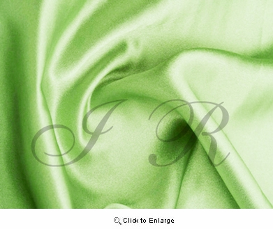 "65"" x 60 FT Leaf Apple Green Single Face Silk Satin Roll"