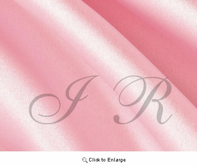 "65"" x 60 FT Peony Pink Single Face Silk Satin Roll"
