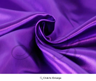 "65"" x 60 FT Dark Violet Purple Single Face Silk Satin Roll"