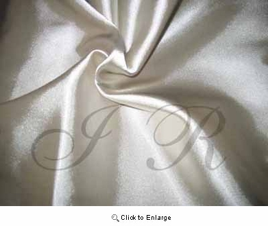 "65"" x 60 FT Platinum Silver Single Face Silk Satin Roll"