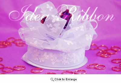"""7/8"""" 25yard Lavender Sheer Organza  with Butterfly printed Gift Ribbon"""