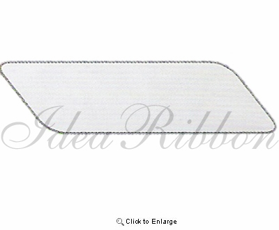 """80""""dia. White Shimmery Sheer With Sewn Edge - Pack of 3"""