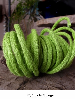 9 Yards Apple Green Wired Jute Rope