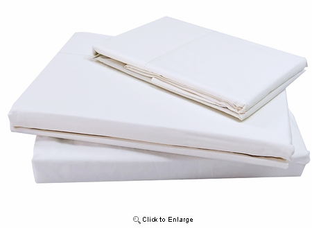 Cal-King Size Darcy 4 Pieces Ivory Tencel Cotton Sheet Set | Superbeddings