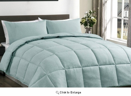 Full/Queen Size Aqua Green Super Down Alternative Comforter Duvet Set | Superbeddings