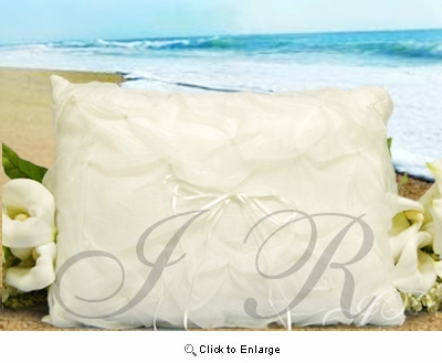 Ivory Kneeling Pillow with Satin Flower - Pack of 1