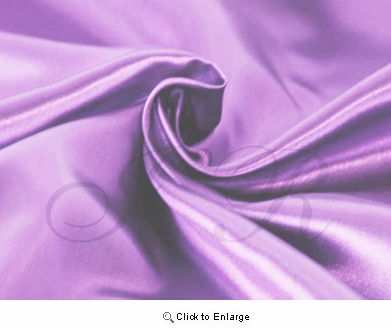 "65"" x 60"" French Lilac Lavender Satin Fabric Roll"