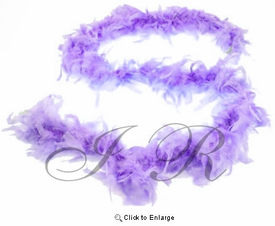 "Lavender Chandelle 72"", 6 Feet Feather Boas - Pack of 6"