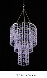 Lavender Gemstone Beaded Chandelier